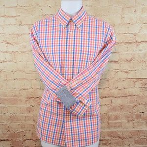 Croft & Barrow Mens Checked L/S Dress Shirt EUC